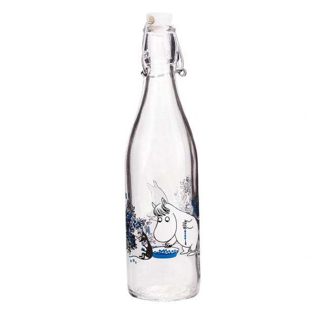Skleněná lahev Moomin Blueberries 0,5l