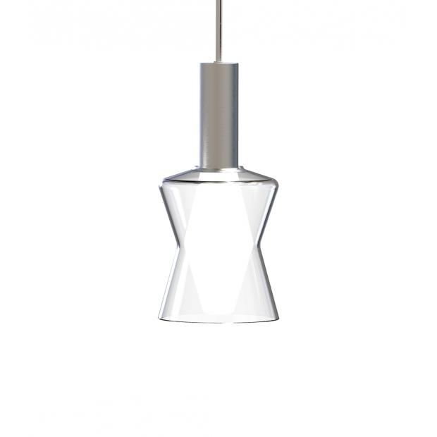 Závesná lampa Tiima, číra