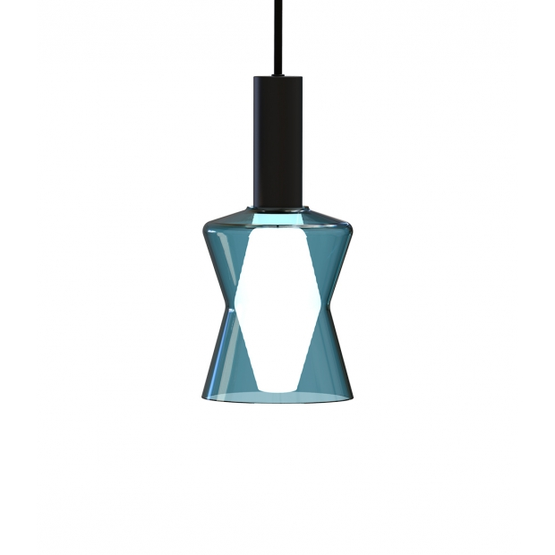 Závesná lampa Tiima, modrá