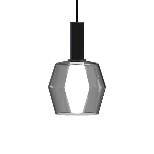 Závesná lampa Polygon, sivá