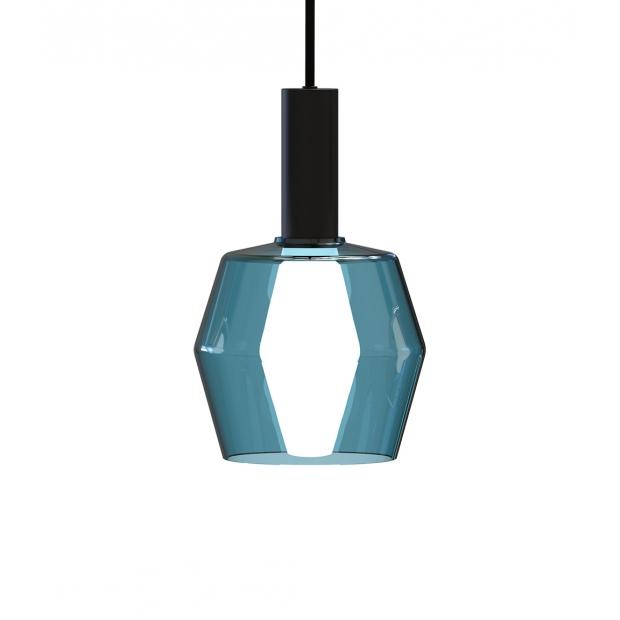 Závesná lampa Polygon, modrá