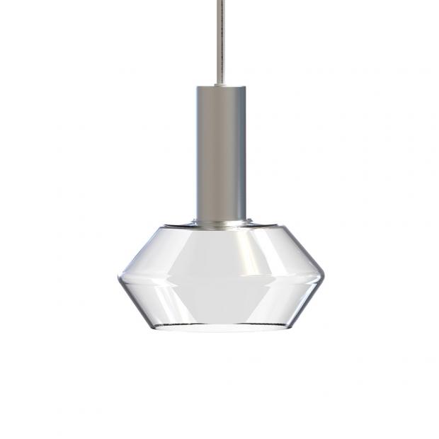 Závesná lampa Diamond, číra