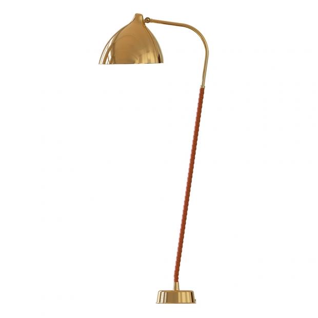 Stojacia lampa Lisa, mosadzná