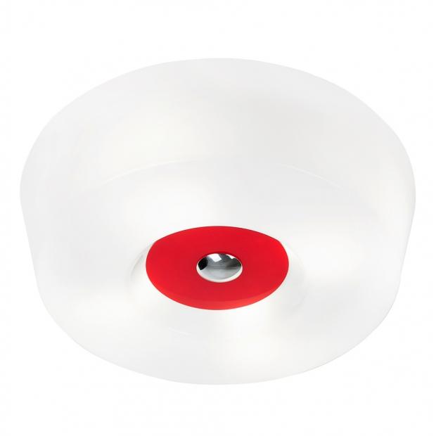 Stropná lampa Yki 600, červená