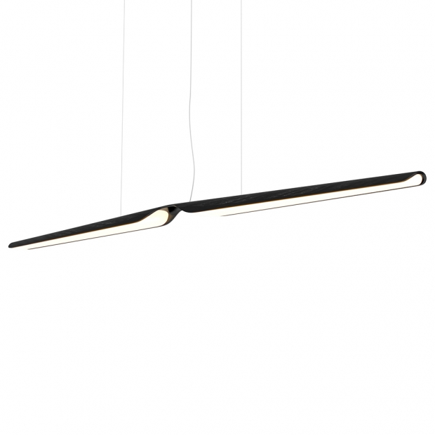 Závěsná lampa Swan, dub / černá