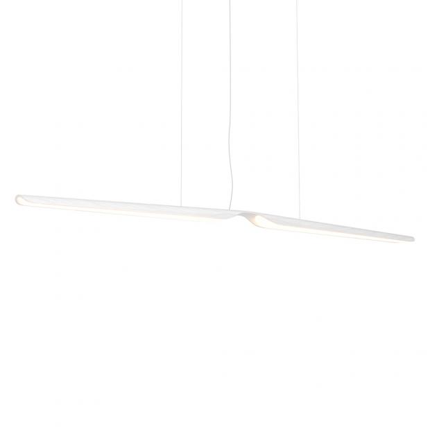 Závěsná lampa Swan, dub / bílá