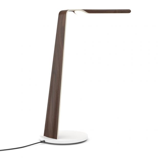 Stolní lampa Swan Qi, ořech