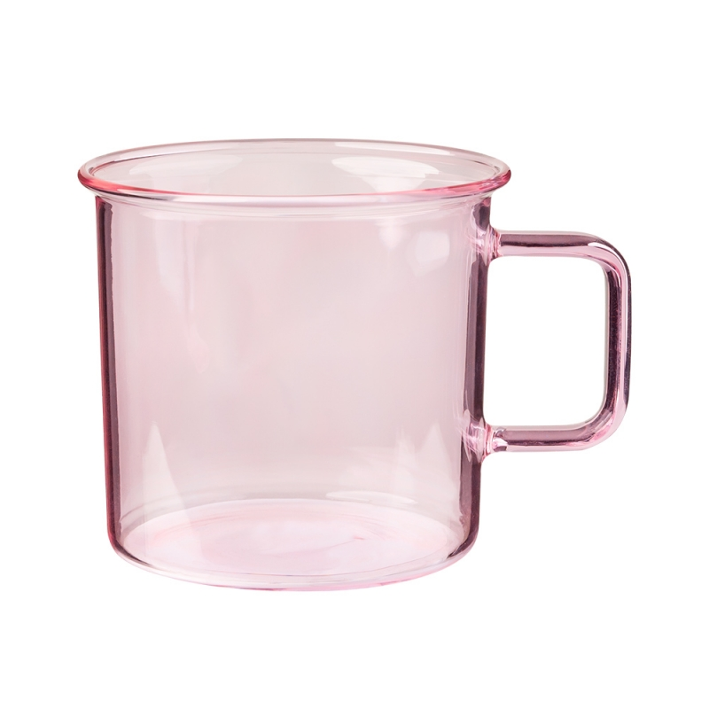 Hrnek Glass 0,35l, růžový