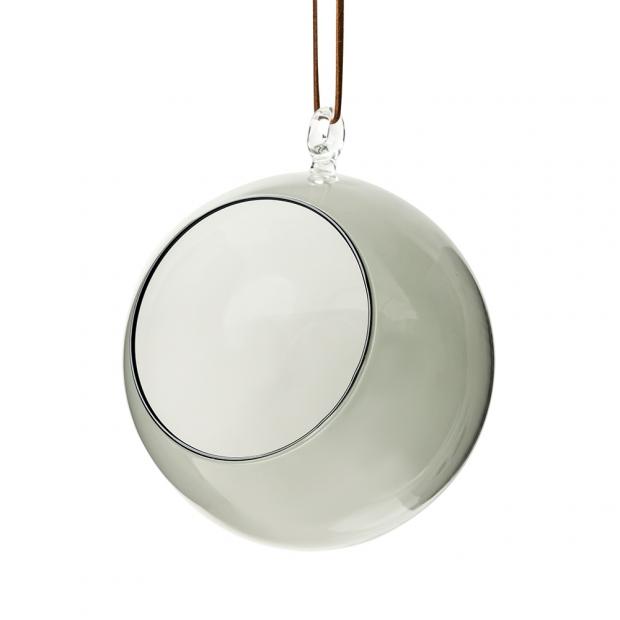Dekorativní baňka 12cm, šedá