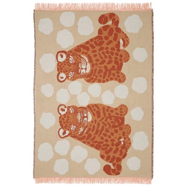 Bavlněná deka Kaksoset 130x180, béžová