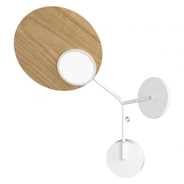 Nástenná lampa Ballon Wall3 L, biela