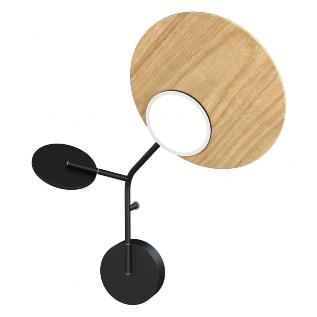 Nástěnná lampa Ballon Wall3 R, černá