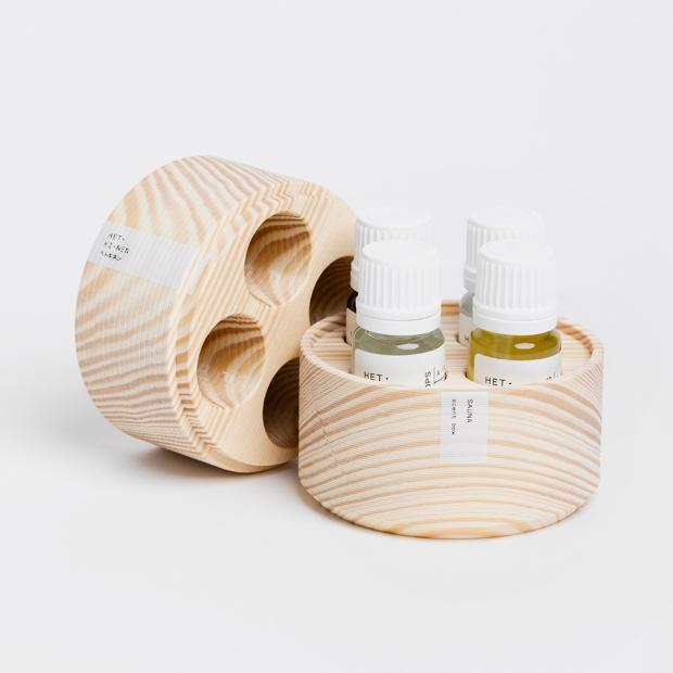 Set vôní do sauny Hetkinen 4x10ml, darčekový box