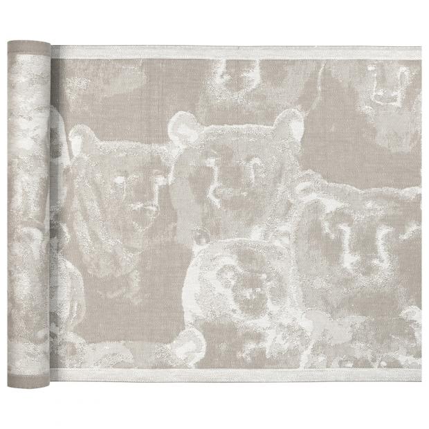 Podložka do sauny Otso 46x150, len-bílá