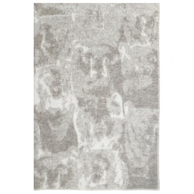 Vlněná deka Otso 130x200, béžovo-bílá