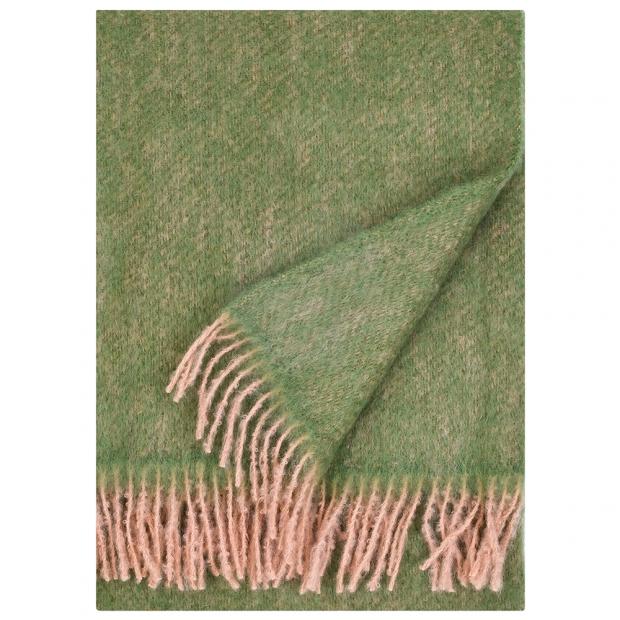 Mohérová deka Revontuli 130x170, pudrovo-olivová