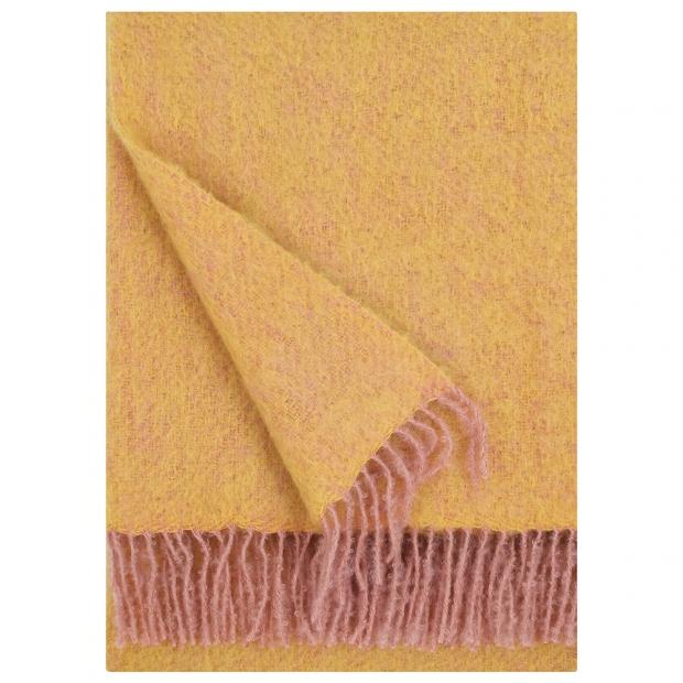 Mohérová deka Revontuli 130x170, pudrovo-okrová