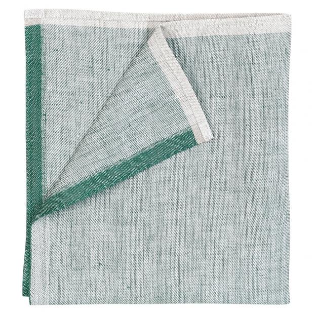 Ľanový obrúsok Aamu 48x48, zelený aspen