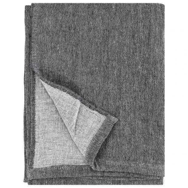 Merino deka Duo 130x180, tmavo sivá-svetlo sivá