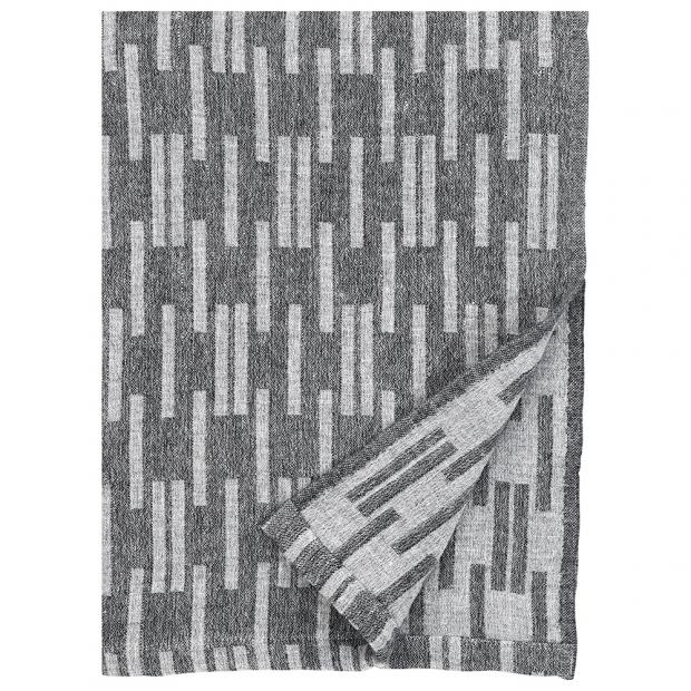 Merino deka Arki 130x180, tmavě šedá-světle šedá