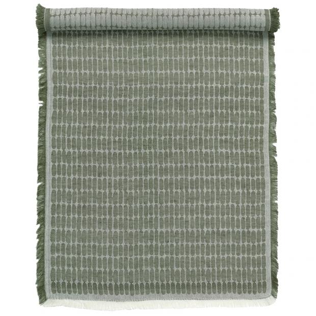 Ľanový behúň Alku 47x150, tmavo zelený