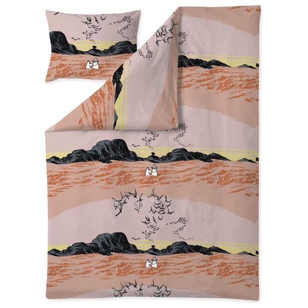 Obliečky Moomin Nummimuumi 150x210, oranžové