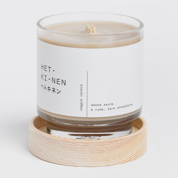 Vonná sviečka v skle Veggie, smoke sauna