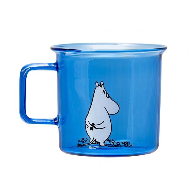 Skleněný hrnek Moomin 0,35l, modrý