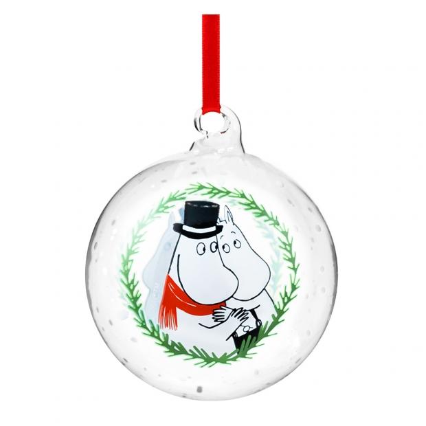 Vianočná ozdoba Moomin Pappa & Mamma 9cm