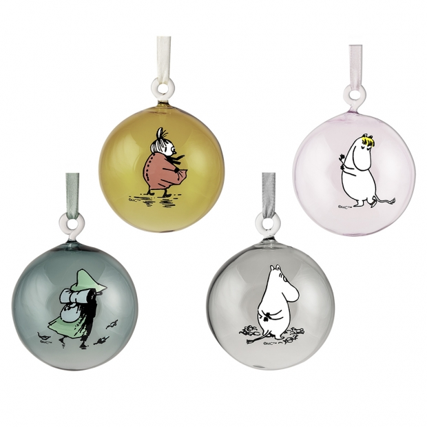 Set vánočních ozdob Moomin 7cm / 4ks