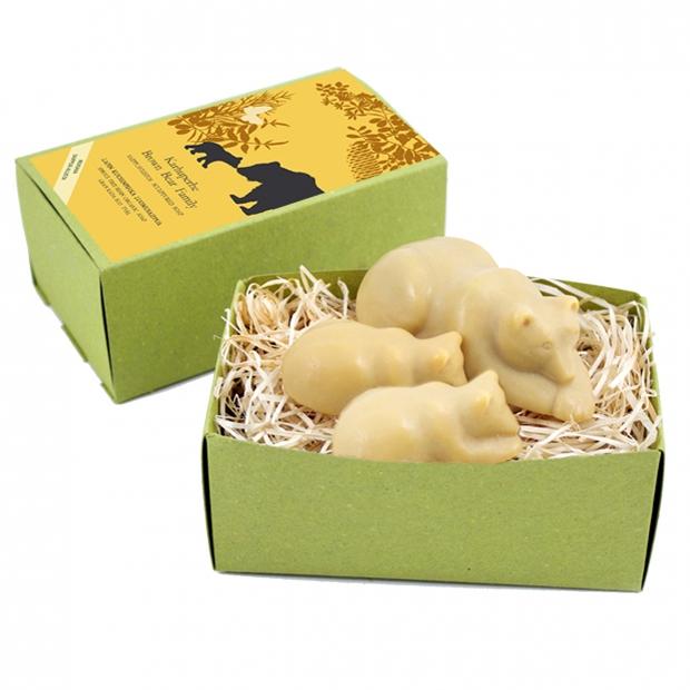 Přírodní mýdlo medvědí rodinka 170g, smrk pryskyřice)