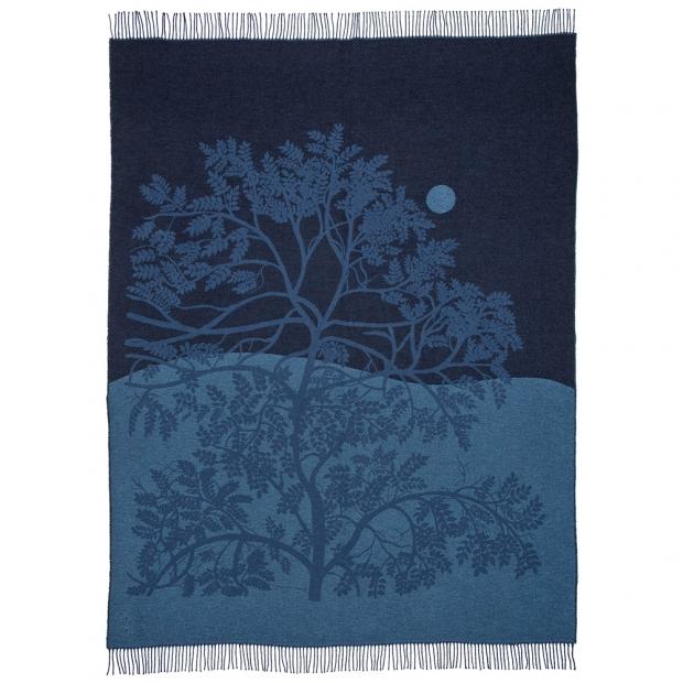 Deka Puu Kuutamossa 130x170, modrá