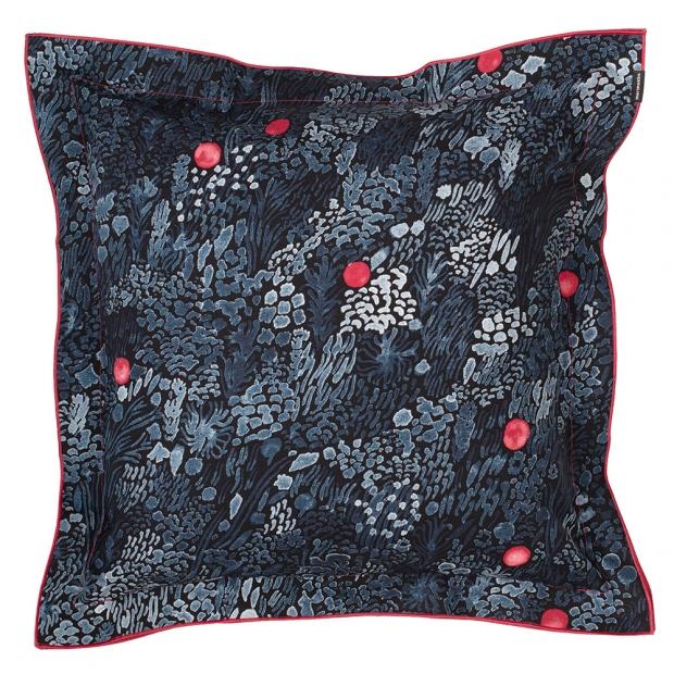 Obliečka na vankúš Kurjenmarja 50x50, modro-červená