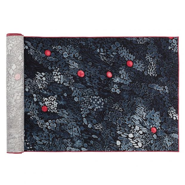 Běhoun Kurjenmarja 47x150, modro-červený