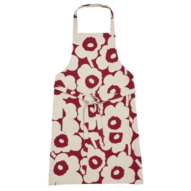 Kuchyňská zástěra Pieni Unikko, béžovo-červená