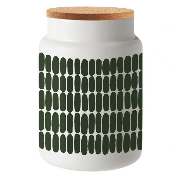 Dóza Alku Oiva Alku 1,2l, zeleno-biela / korok