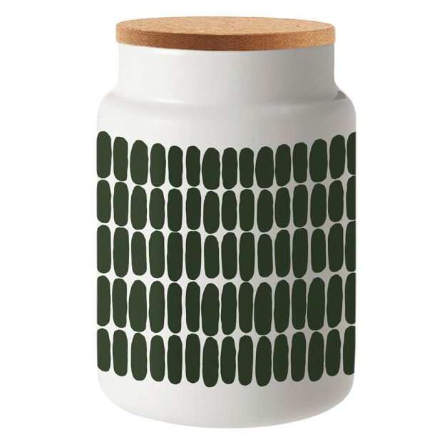 Dóza Alku Oiva Alku 1,2l, zeleno-bílá / korek