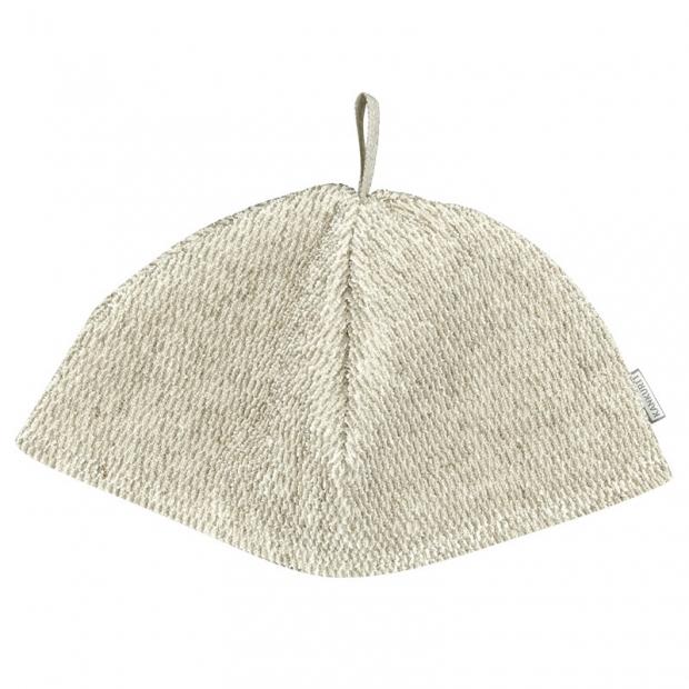 Čepice do sauny Meri, světle béžová