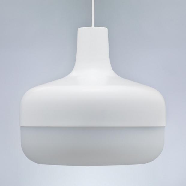 Závesná lampa Korona, biela