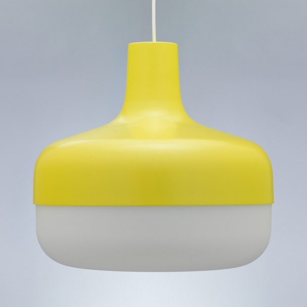 Závěsná lampa Korona, žlutá
