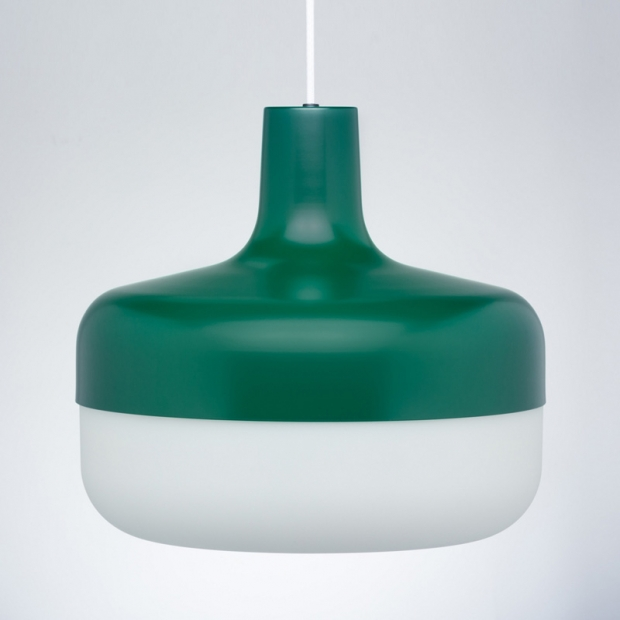 Závěsná lampa Korona, zelená
