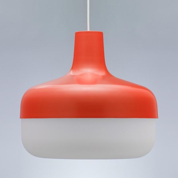 Závěsná lampa Korona, červená