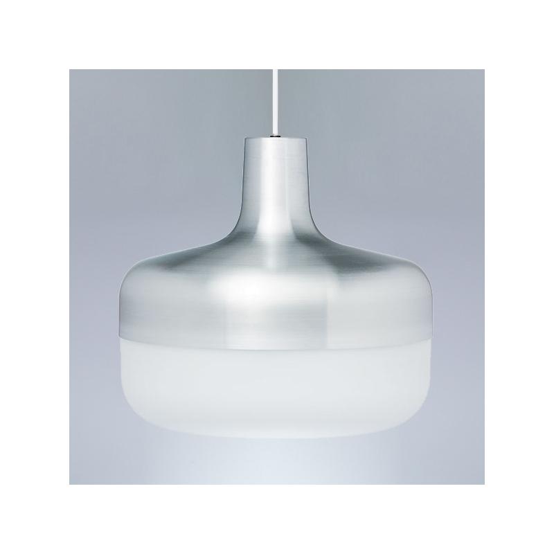 Závěsná lampa Korona, hliníková