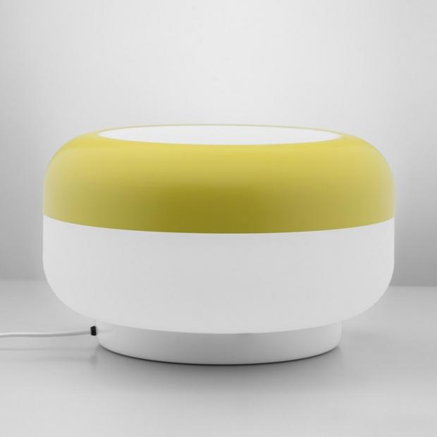 Stolná lampa Korona, žltá