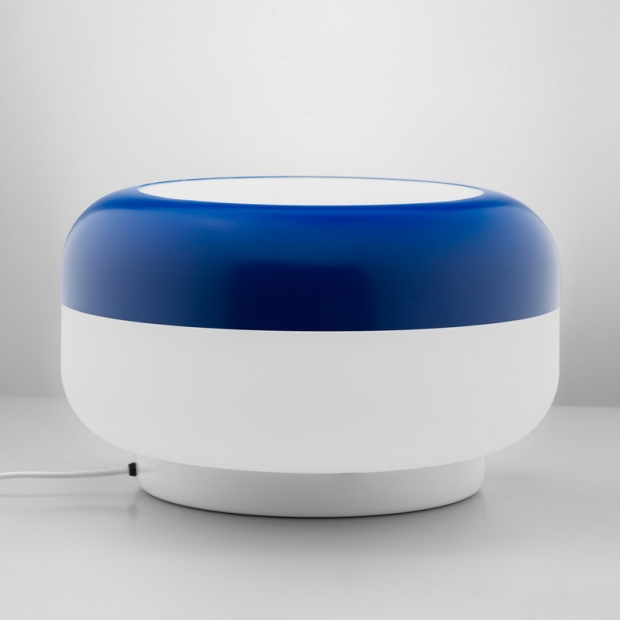 Stolná lampa Korona, modrá