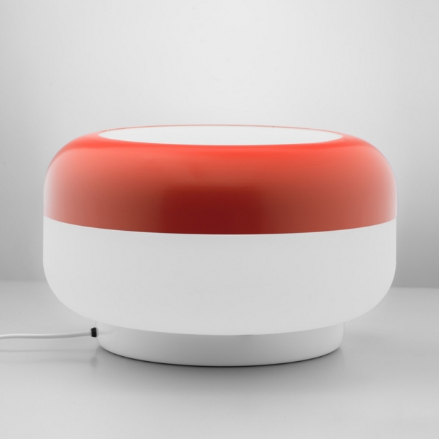 Stolná lampa Korona, červená