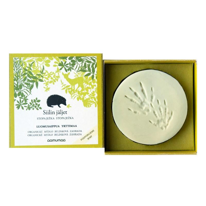 Prírodné mydlo so stopou ježka 85g, bylinková záhrada
