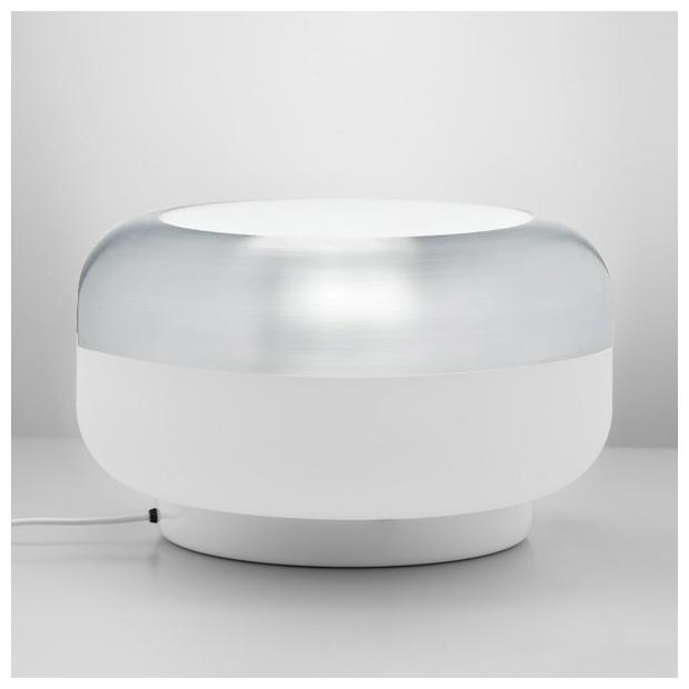 Stolná lampa Korona, hliníková