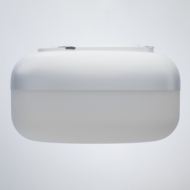 Nástenná lampa Korona, biela