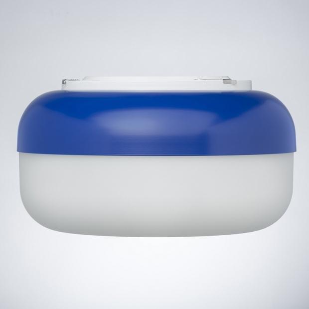 Nástěnná lampa Korona, modrá
